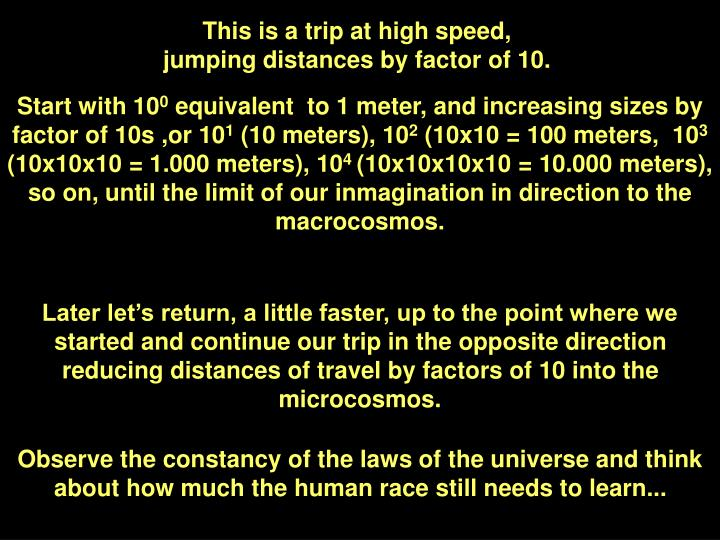 This is a trip at high speed,