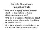 sample questions factual conflicts