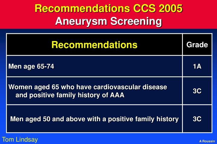 Recommendations CCS 2005