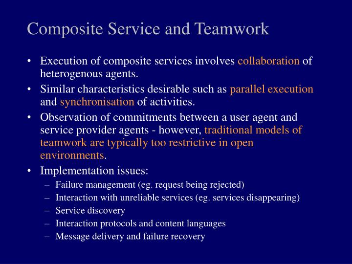 Composite Service and Teamwork