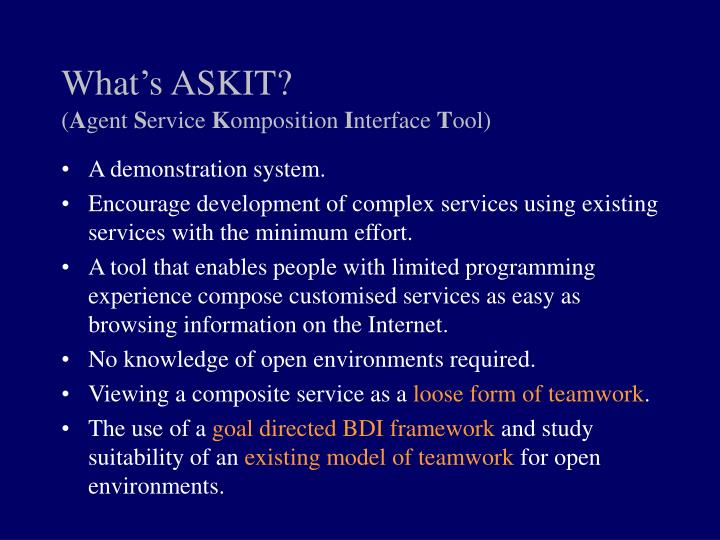 What's ASKIT?