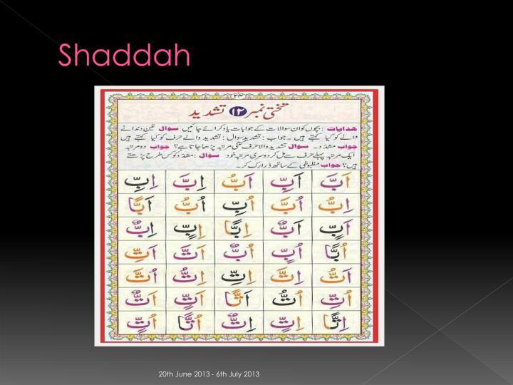 Shaddah