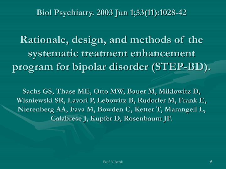 Biol Psychiatry. 2003 Jun 1;53(11):1028-42