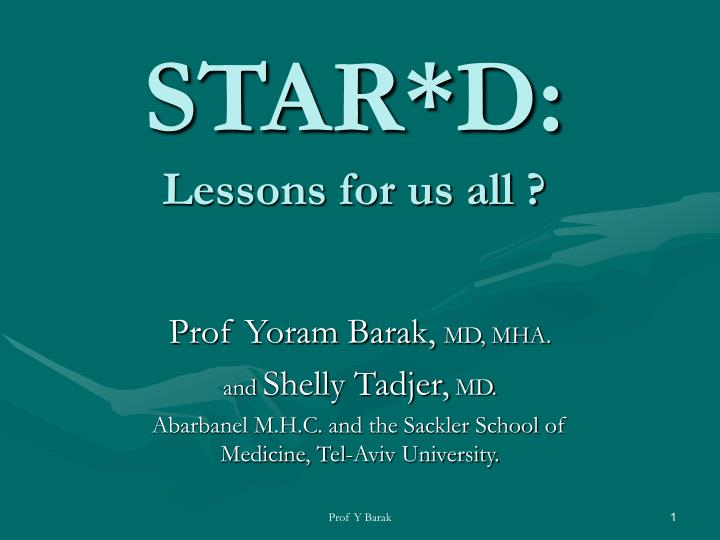 Star d lessons for us all