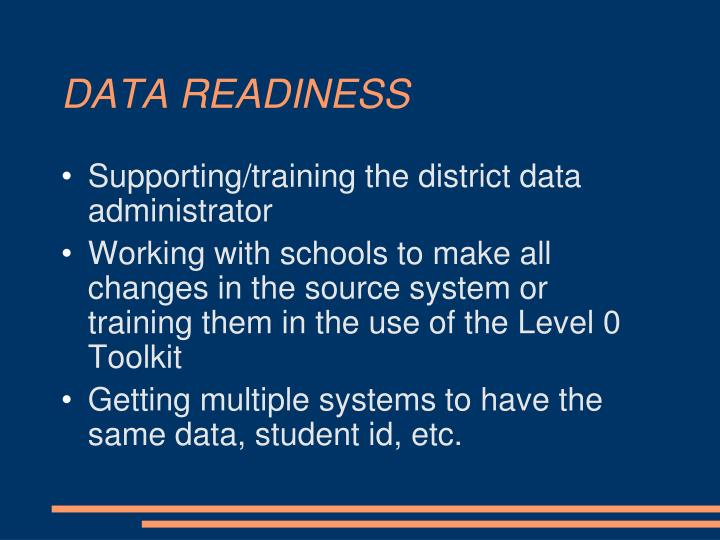 DATA READINESS
