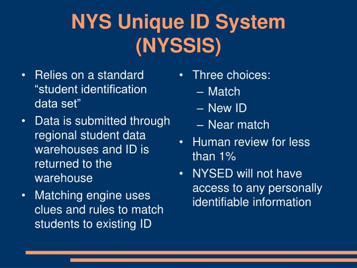 NYS Unique ID System