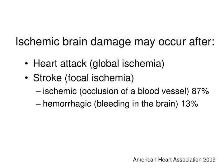 Ischemic brain damage may occur after: