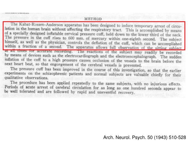 Arch. Neurol. Psych. 50 (1943) 510-528