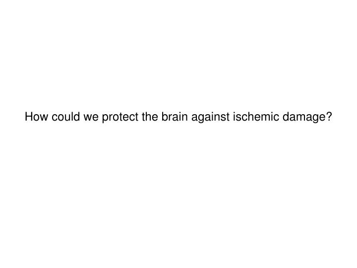 How could we protect the brain against ischemic damage?