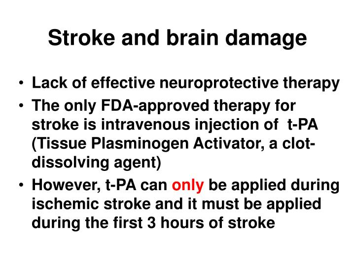 Stroke and brain damage