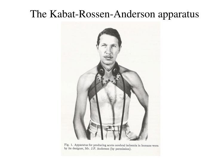 The Kabat-Rossen-Anderson apparatus
