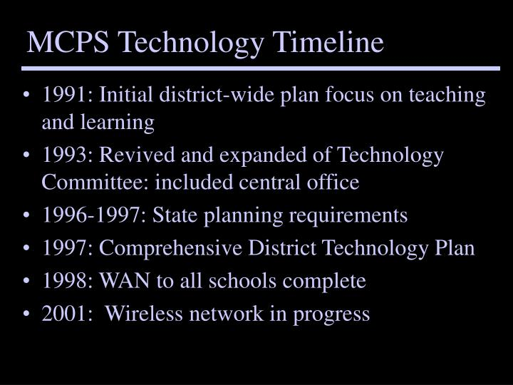 Mcps technology timeline