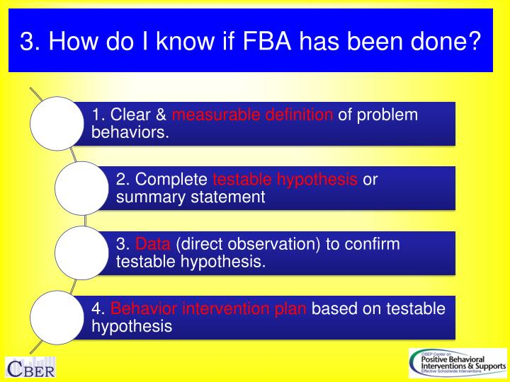 3. How do I know if FBA has been done?