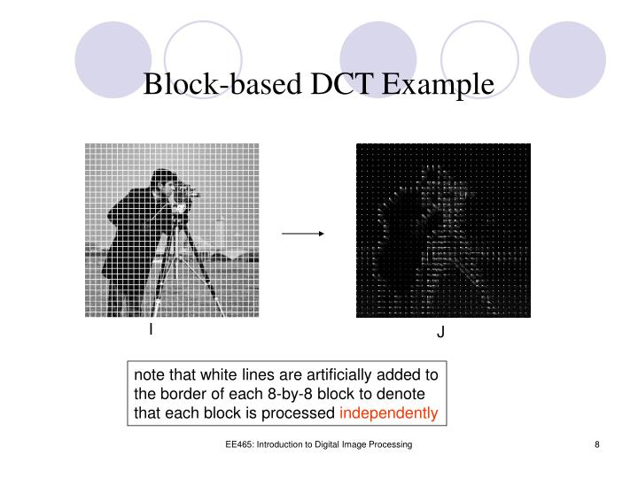 Block-based DCT Example