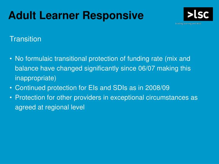 Adult Learner Responsive