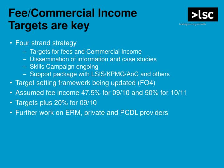 Fee/Commercial Income
