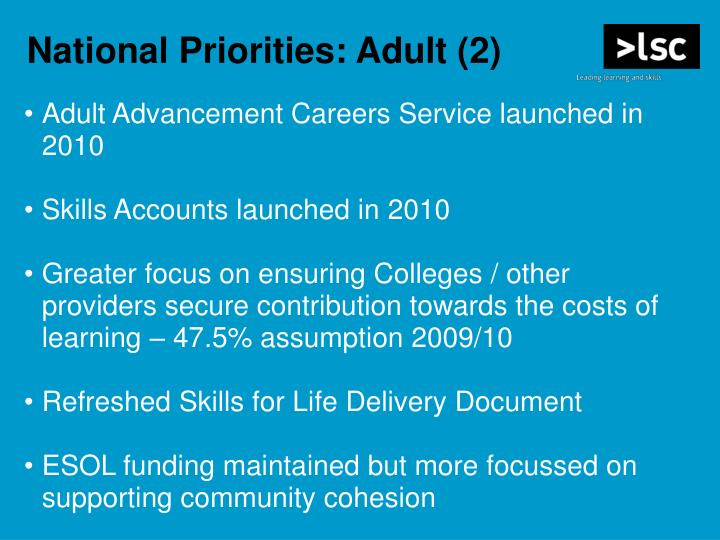 Adult Advancement Careers Service launched in 2010