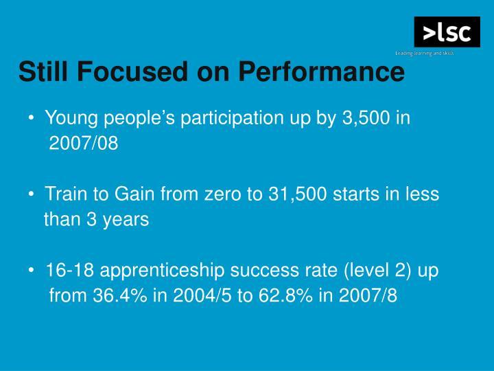 Still Focused on Performance