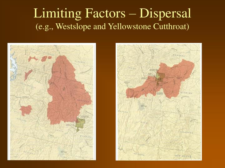 Limiting Factors – Dispersal
