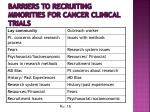 barriers to recruiting minorities for cancer clinical trials2