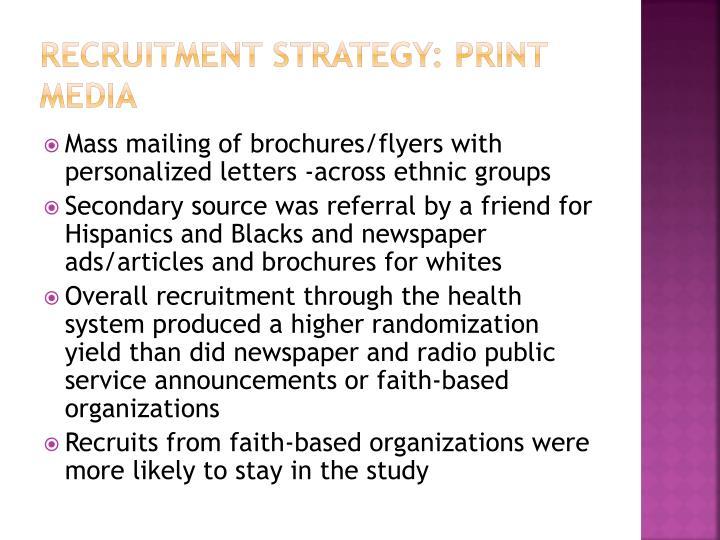 Recruitment Strategy: Print Media