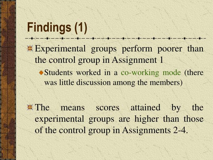 Findings (1)