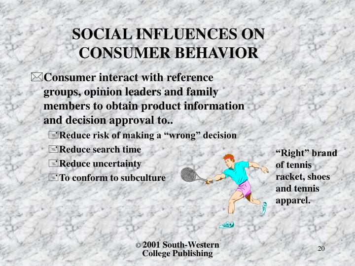 SOCIAL INFLUENCES ON CONSUMER BEHAVIOR