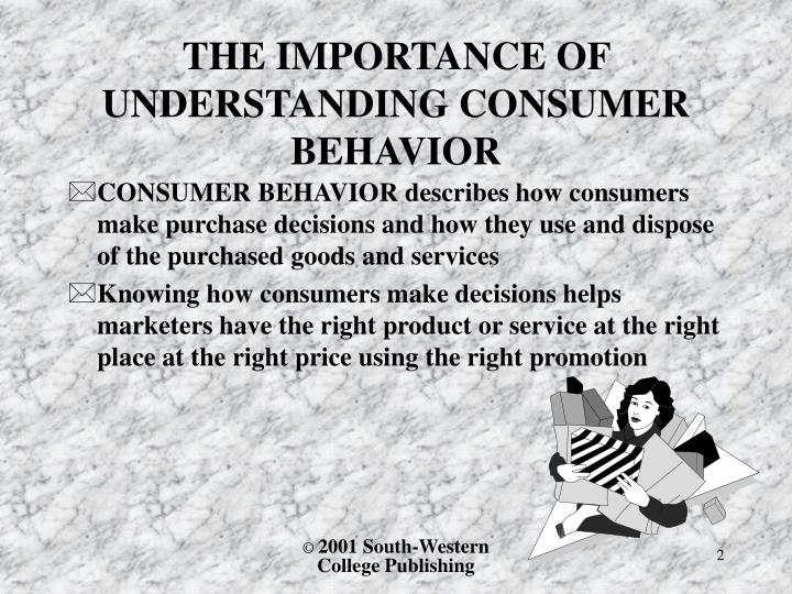The importance of understanding consumer behavior