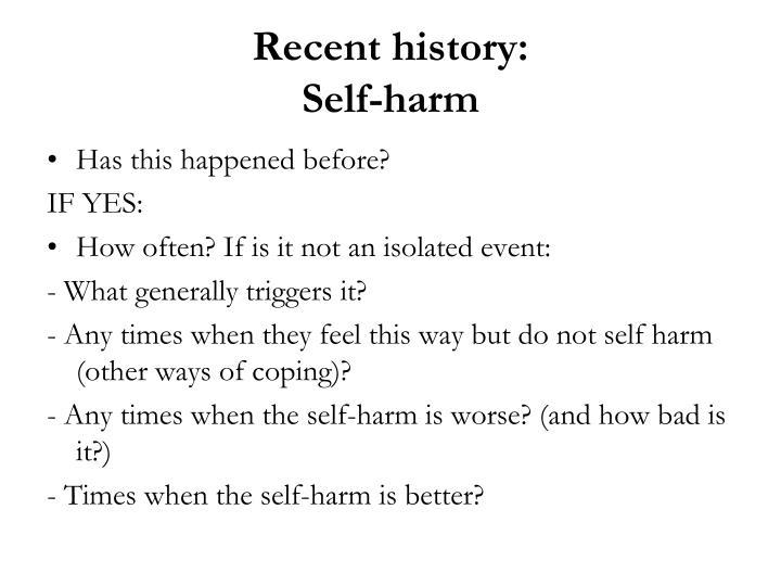 Recent history:
