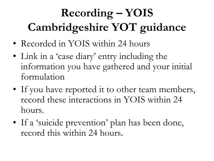 Recording – YOIS