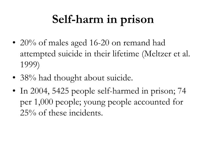 Self-harm in prison