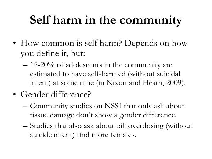 Self harm in the community