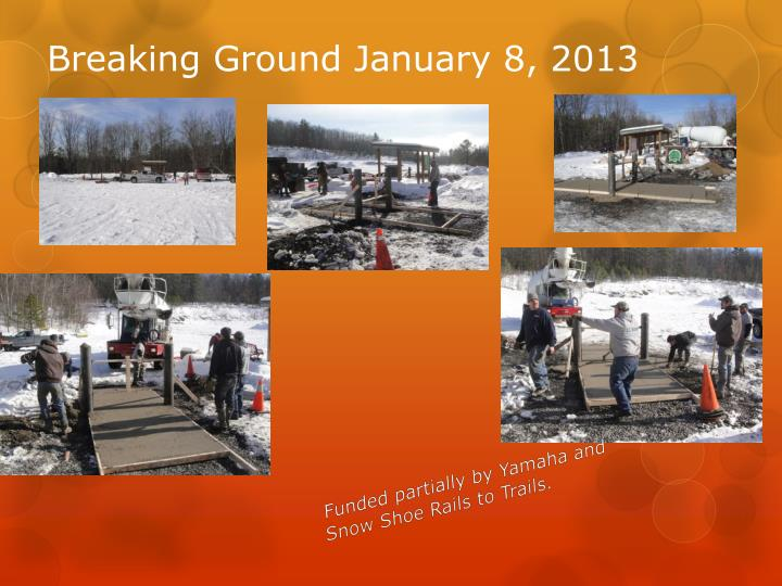 Breaking Ground January 8, 2013