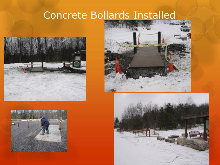 Concrete Bollards Installed