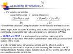 calculating sensitivities1