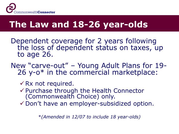 The Law and 18-26 year-olds
