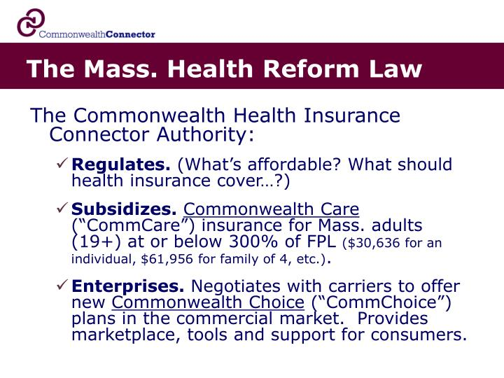 The Mass. Health Reform Law