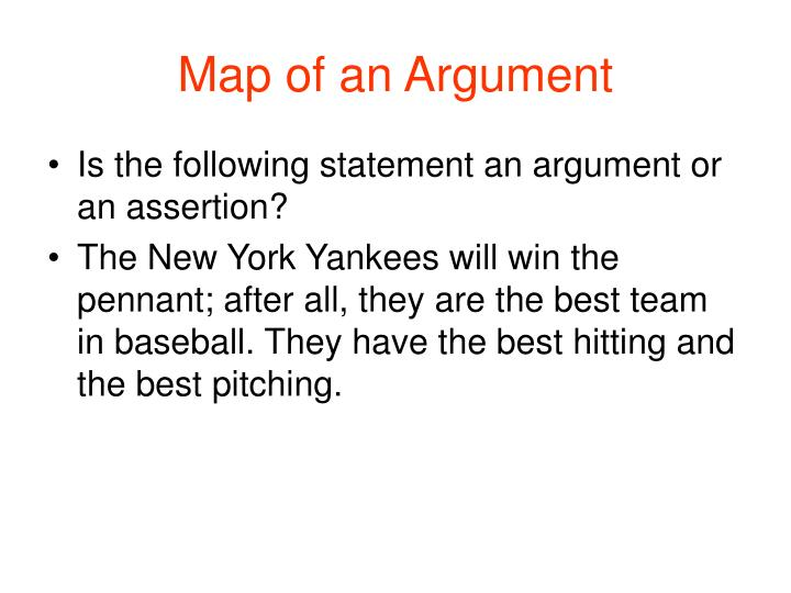 Map of an Argument