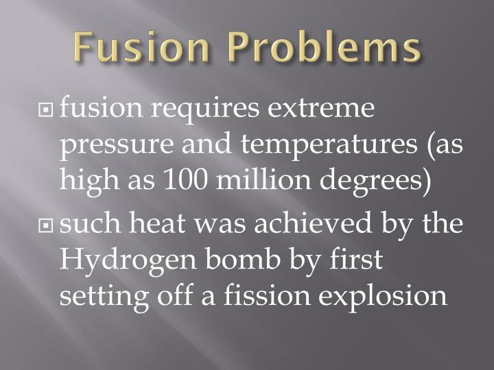Fusion Problems