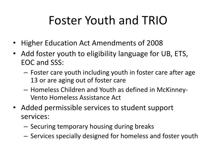 Foster Youth and TRIO