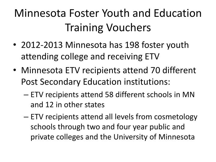 Minnesota Foster Youth and Education Training Vouchers