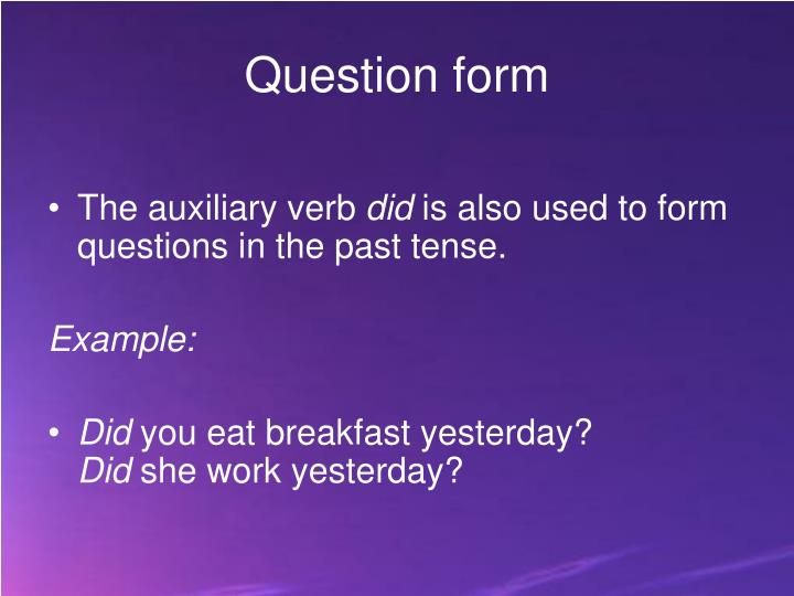 Question form