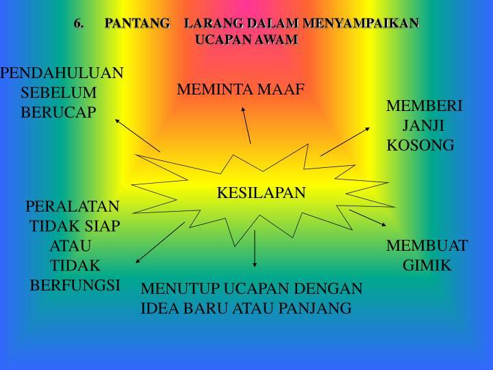 6.      PANTANG    LARANG DALAM MENYAMPAIKAN