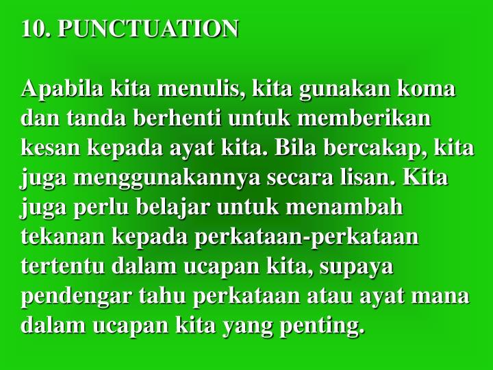 10. PUNCTUATION