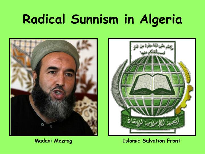 Radical Sunnism in Algeria