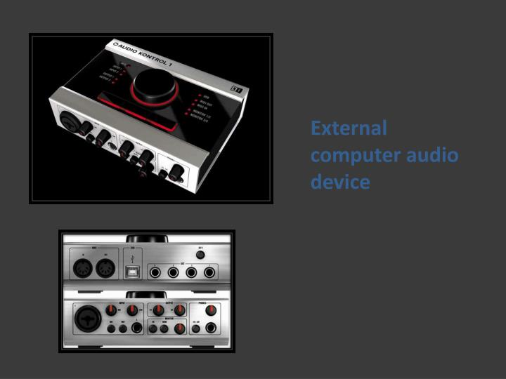 External computer audio device