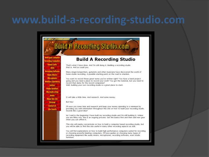 www.build-a-recording-studio.com