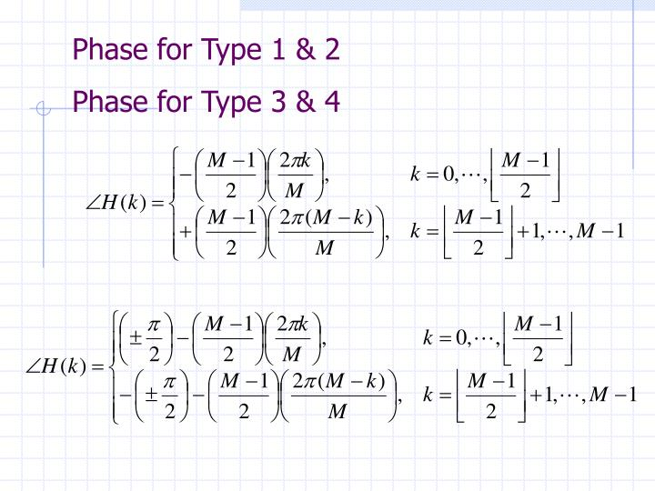 Phase for Type 1 & 2