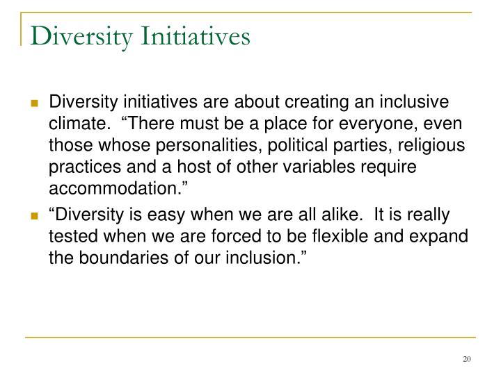 Diversity Initiatives