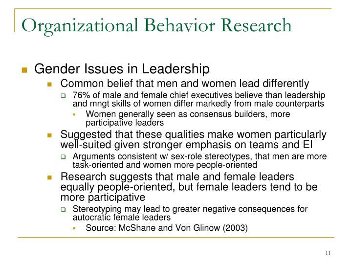 Organizational Behavior Research